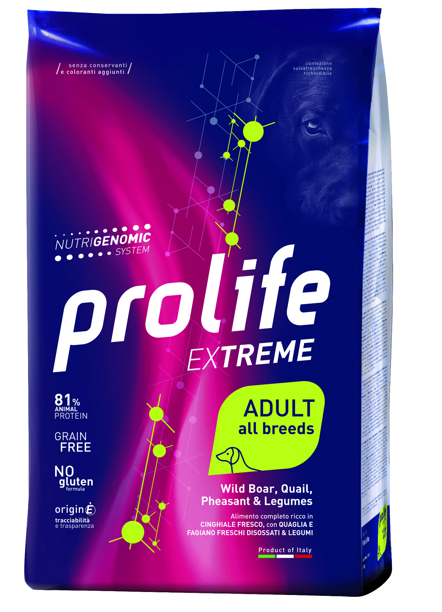 Корм Prolife Extreme Adult All Breeds для собак всех пород со свежим мясом дикого кабана