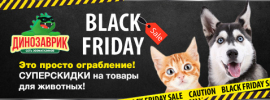 Black Friday 2019 в зоомагазинах Динозаврик