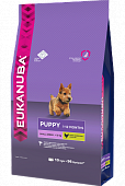 Корм Eukanuba Puppy Small Breeds для щенков мелких пород с домашней птицей