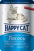 Паучи Happy Cat для кошек с лососем в соусе