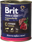Консервы BRIT Premium by Nature для собак. Сердце и печень