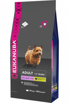 Корм Eukanuba Adult Small Breed для взрослых собак мелких пород с домашней птицей