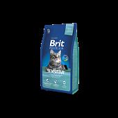 Корм Brit Premium Cat Sensitive для кошек с чувствительным пищеварением с ягнёнком