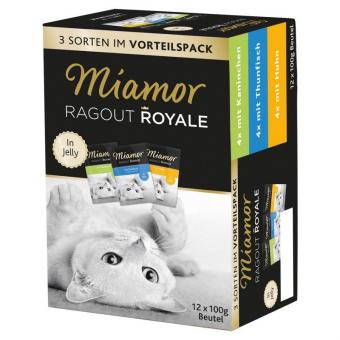 Комплект Miamor Multibox Ragout Royal для кошек с курицей, тунцом и кроликом в желе – купить в Москве, цены   Интернет-магазин Динозаврик