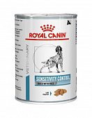 Консервы Royal Canin Sensitivity Control для собак при пищевой аллергии и непереносимости с уткой